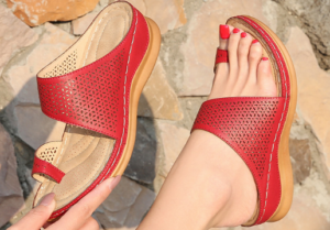 Red Air-Free Comfy Orthopedic Bunion Sandals