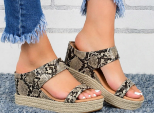 Snakeskin Print Comfy Orthopedic Bunion Sandals