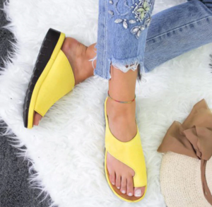 Yellow Comfy Orthopedic Bunion Sandals